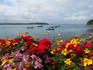Flowers and boats