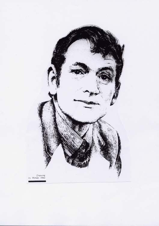 Sketch of Michael Hartnett (1941-99) by Wendy O'Shea