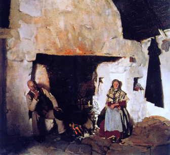 Old John's Cottage, Connemara by William Orpen, 1908 (Private collection)